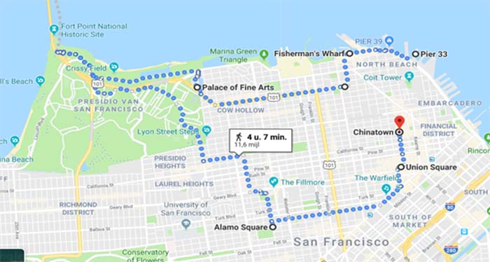 San Francisco looproute